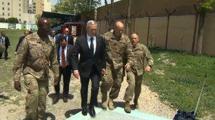US Secretary of Defense James Mattis has arrived in Afghanistan, where he is meeting government officials including President Ashraf Ghani.
